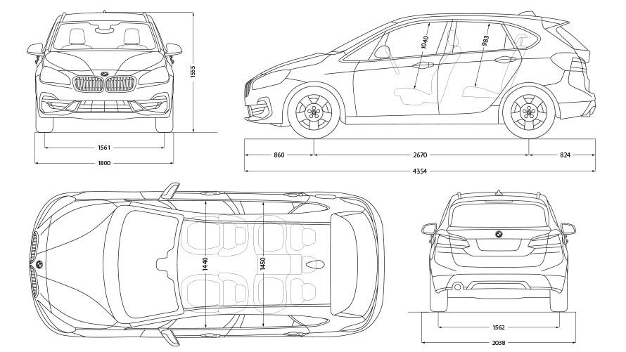 Technische Daten BMW 2er Active Tourer