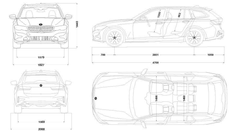 Technische Daten BMW 3er Touring M